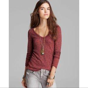Free People Desperate Waffle Henley Thermal